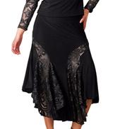 Adult Mid-Length Embroidered Insert Ballroom Skirt