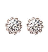 10mm Starburst Rhinestone Earrings