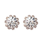 16mm Starburst Rhinestone Earrings