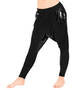 Adult Pleather Accent Harem Pants