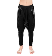 Child Pleather Accent Harem Pants