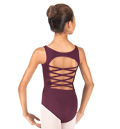Girls Trestle Back Tank Leotard