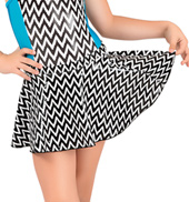 Girls Metallic Chevron Pull-On Circle Skirt