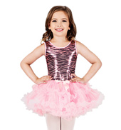 Child Zebra Sequin Tutu Dress