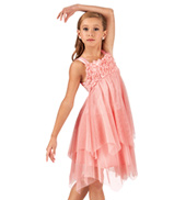 Girls Rosette Flowy Tank Dress