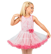Child Coral Lace Bodice Tank Tutu Dress