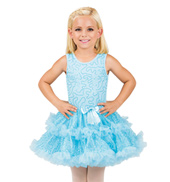 Girls Blue Sequin Bodice Tank Tutu Dress