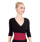 Womens Cable Wrap Sweater