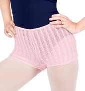Womens Knitted Boy Cut Dance Shorts