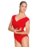 Adult Supplex Mock-Wrap Leotard
