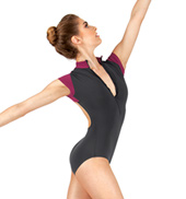 Adult Zip Front Short Sleeve Leotard
