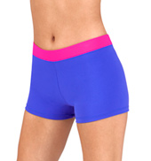 Adult Two-Tone Dance Shorts