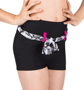 Girls High Waist Short with Belt