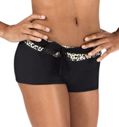 Girls Cheetah Print Shorts with Belt