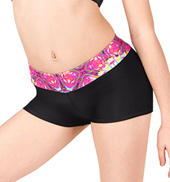 Girls Kaleidoscope Print Dance Shorts