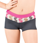 Girls Neapolitan Print Waist Dance Shorts