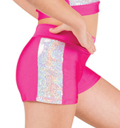 Girls Sequin Insert Dance Shorts