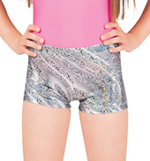 Girls Metallic Leopard Shorts