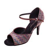 Ladies 3.5 Salsa/Tango Series Chevron Ballroom Shoe