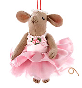 Fabric Ballet Mouse Ornament