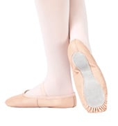 Adult Economy Leather Full Sole Ballet Slipper