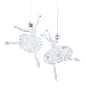 Clear Acrylic Ballerina Ornament