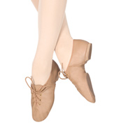 Girls Lace Up Jazz Shoes