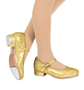 Girls Sparkle Tap Slide Buckle Glitter Tap Shoes