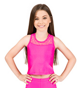 Girls Crochet Lace Insert Tank Top