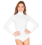 Turtleneck Long Sleeve Leotard With Snaps