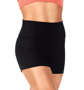 Girls Team Basic High Waist Dance Shorts