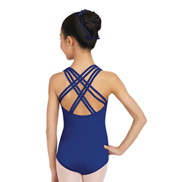 Girls Spotlight Adjustable Back Camisole Leotard
