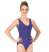 Adult Tactel Pinch Front Tank Leotard with Belt