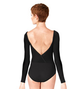 Adult V-Back Long Sleeve Leotard