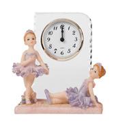 Glass Ballerina Desk Clock