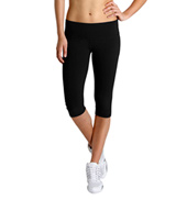 Bloch Studio Active Cotton Spandex 1/2 Length Wide Band Leggings