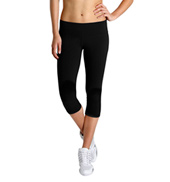 Studio Active Cotton Spandex 3/4 Length Wide Band Leggings