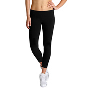 Bloch Studio Active Cotton Spandex 7/8 Length Wide Band Leggings