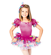 Candyland Child Puff Sleeve Dress