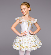 Girls Silver & Gold Tutu Dress