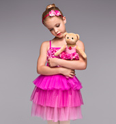 Estella Rose Girls 3-Tier Tutu Dress and Teddy Bear Set
