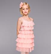 Just Peachy Girls Ruffle Dress