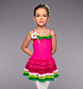 Berry Berry Sweet Girls Tutu Dress