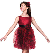 August Rose Girls Spiral Dress