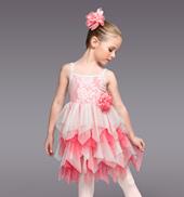Peaches and Cream Girls Ruffle Dress