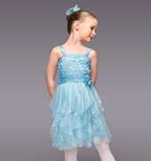 April Showers Girls Spiral Dress