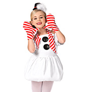 Do You Wanna Build A Snowman? Girls Halter Dress