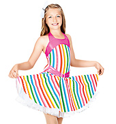 Tutti Fruity Child Halter Dress