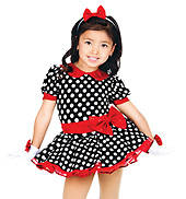 Polka Dottie Child Puff Sleeve Dress