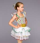 Girls Happy Holidays 3-Tier Dress